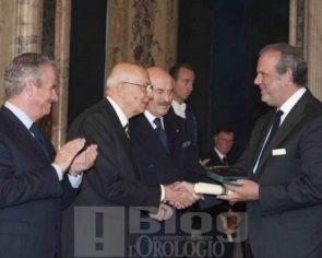 Luigi Macaluso nominato Cavaliere del Lavoro da Giorgio Napolitano