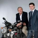 Giacomo Agostini in visita alla manifattura JeanRichard