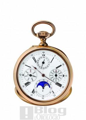 Audemars Piguet orologio da tasca in oro giallo con calendario perpetuo e fasi di luna