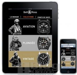 Bell & Ross iPad pagina delle Collezioni