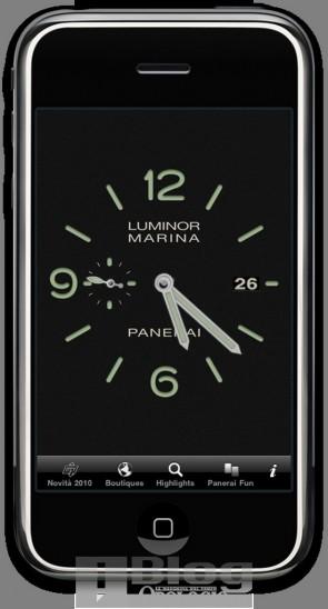 Applicazione Panerai per iPhone