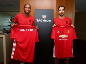 Ashley Young and Henrikh Mkhitaryan show off TAG Heuer branded jersey_1