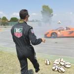 Ronaldo shooting balls in the McLaren