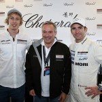 005 - Karl-Friedrich Scheufele with Brendon Hartley and Romain Dumas