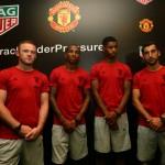 Manchester United representatives present at the event. (From left Wayne Rooney, Ashley Young, Marcus Rashford, Henrikh Mkhitaryan)(1)_1