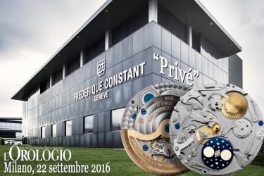 """Frédérique Constant ti invita allo speciale evento """"Privé"""""""