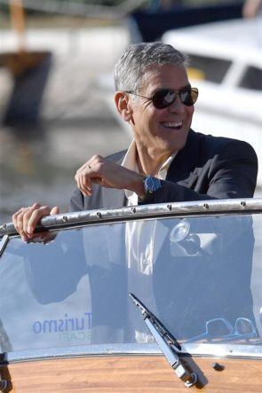 Venice FF_George Clooney wearing Omega Aqua Terra