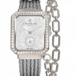 CHARRIOL Lady ST-TROPEZ Mansart Steel with 62 diamonds